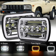For Toyota Pickup Truck 5x7 7x6 Halo120w H6054 Sealed Beam Led Headlights Pair