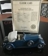 1934 Hispano-suiza J12 From The Danbury Mint W/ Certificate Of Title