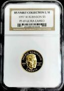 1997 W Gold Proof 5 Dollar Jackie Robinson Commemorative Coin Ngc Proof 69 Uc