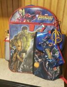 Marvel Avengers Infinity War Backpack With Extras - Brand New