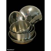 6pc Vintage Revereware Stainless Steel Copper Bottom Pots And Pans
