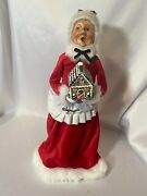 Vintage Byers Choice Christmas Mrs Claus Gingerbread House Caroler13 Baker