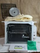 Ronco Compact Showtime+ Rotisserie And Bbq With Video 2 Square Baskets Broiler Pan