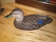 Black Duck -wood Duck Decoy- Decoys By Fell - Hunting, Fishing Collecting