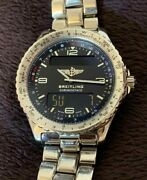 Breitling Ref A56012.1 Chrono Space Watch Black Dial Digital Analog Mens From Jp