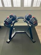 Weider Adjustable Dumbbells Weights Set And Stand
