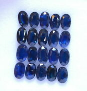 Natural Blue Sapphire 8x6 Mm Oval Cut Loose Faceted Untreated Gemstone 250 P Gf
