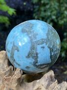 Large Larimar Ball Aaa+ Peace Love Tranquility 602g 74mm Diameter 103