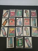 18- Vintage 1979 Topps Chewing Gum Wacky Trading Stickers Funny Doubles