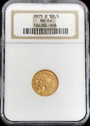 1925 D Gold United States 2.5 Indian Head Quarter Eagle Ngc Mint State 64