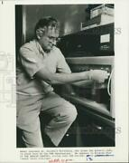 Press Photo Geneticist Dr. Marshall Nirenberg Works At Dna Synthesizer