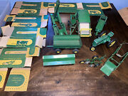 Vintage 1950and039s John Deere Toy Tractor Lot With Boxes All Original