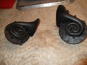 Corvette Horns 1955 1956 Matched Pair + Manual Delco Remy