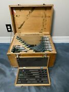 Mitutoyo 103-908 0-12 Outside Micrometer Set W/ Carbide Faces