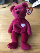 Rare Retired Mint Condition Ty Valentina Beanie Baby 1998 W/ Tag Errors