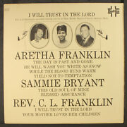 Aretha Franklin I Will Trust In The Lord Battle 12 Lp 33 Rpm