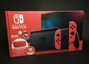 Rare Nintendo Switch Mario And Bowser Exclusive Red Joy-cons Console Complete +