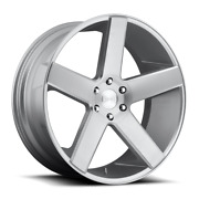 24and039and039 Dub Baller S218 Silver Brushed Tires Silverado Yukon Tahoe Sierra Gmc 2021
