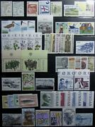 1975-2000 Faroe Islands 1-386 Mint / Used Collection Of 90 Stamps + 4 S. Shts