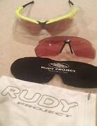 Rudy Project Gyntyk Sponsor Issue W/ Laser Orange + Spare Race Red Lenses New
