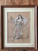 Georges Webert 1843-1919 Large Pastel/gouache Signed And Dated 1918. Coast
