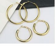 18k Yellow Gold Filled Classic Tarnish-free 5mm Tube Hoop Earrings Choose A Size