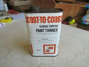 Vintage Empty Pint Coast To Coast Paint Thinner Oil Can Lot 21-34-2b