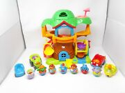 Hasbro Playskool 2003/4 Weebles Musical Tree House With 7 Weebles And 4 Vehicles