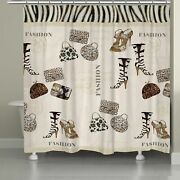 Animal Print Couture Shower Curtain Brown, Black