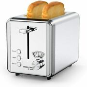 Toasters 2 Slice 1.5in Wide Slots Removable Crumb Tray For Various Bread Types