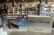 Vintage Commodore 64 And Single Floppy Disc Drive Both Complete In Original Boxes