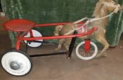 Antique Childs Horse Drawn Scully Peddle Toy