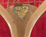Antique Circa 1910and039s Ty Cobb Wb Jarvis Brand Tennis Racquet Early Old Detroit