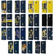 Official Scotland National Team Players Leather Book Case For Motorola Phones
