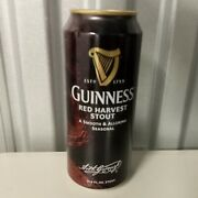 Rare Guinness Usa Red Harvest Stout Beer Can Opened Empty Ireland Irish