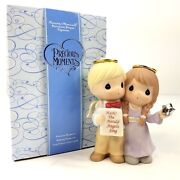 Precious Moments Glory To The Newborn King 910020 Boy And Girl Angels Figurine