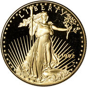 1992-w American Gold Eagle Proof 1 Oz 50 - Coin In Capsule