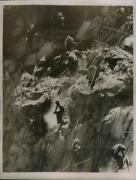 1937 Press Photo High Scalers At Work On Parker Dam In Calif. - Neb99136