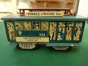 Tin Plated F.e. Walts Powell And Mason Sts. San Francisco Cable Car Friction Toy