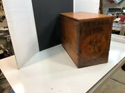 Vintage Texaco Military Engine Oil Wood Shipping Crate / Box