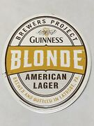 Guinness Blonde Brewers Project Latrobe Pa Tin Tacker Embossed Sign 23.5 X 19