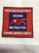 Embroidered Af American Freightways Driver Instructor Trucker Patch 31/2x31/2