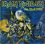 Iron Maiden Live After Death Fully Signed Vinyl Lp Bruce Dickinson +4 Autograph