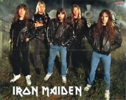 Iron Maiden Poster, Fully Signed Bruce Dickinson Dave Murray Harris +3 Autograph