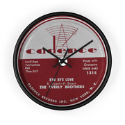 Everly Brothers Bye Bye Love Cadence Recors 78 Rpm Label Vinyl Label Wall Clock