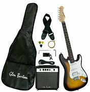 Glen Burton Ge101bco-ts Electric Guitar Stratocaster-style Combo With Accesso...