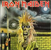 Iron Maiden 1980 Fully Signed Vinyl Lp Clive Burr Paul Diand039anno Murray Autograph