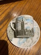 Vintage Empire State Building Espresso Coffee Cup And Saucer Johnson Bros England