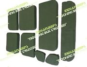 Green Od Checks Canvas Complete Seat Cushion Set Jeep Willys Mb Gpw 1941-47