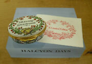 Ltd Ed Halcyon Days Life Is A Song - Love Is The Music Enamel Musical Box